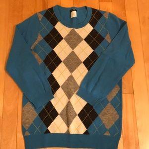 JCREW argyle sweater